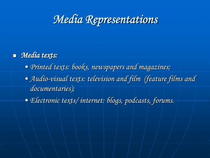 Media Representations