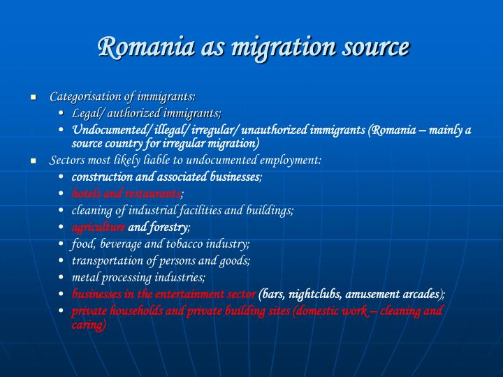 Romania as migration source