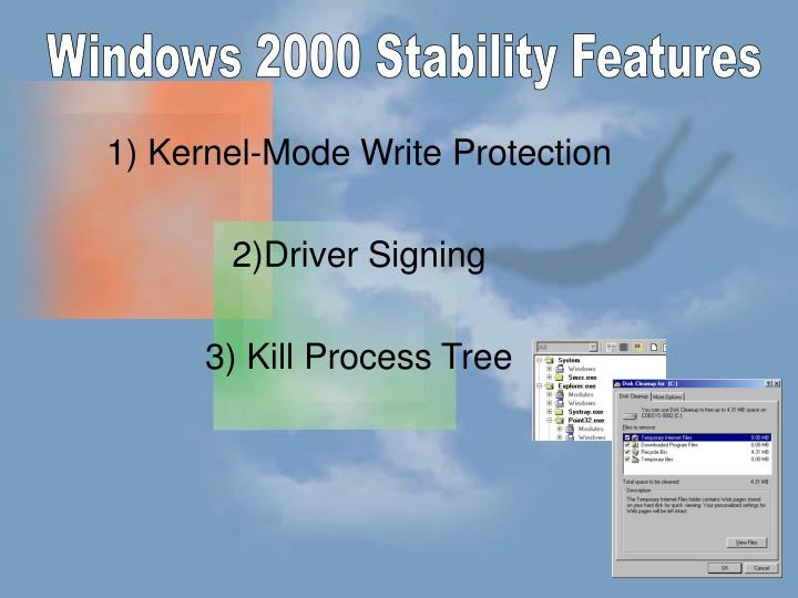Windows 2000 Stability Features