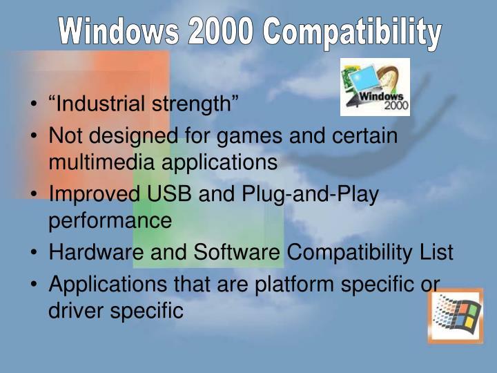 Windows 2000 Compatibility