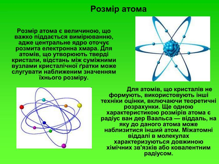 Розмір атома