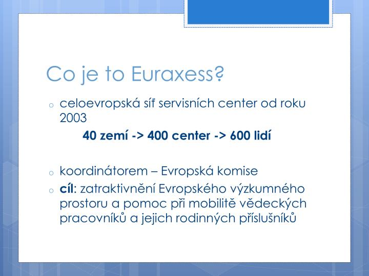 Co je to Euraxess?
