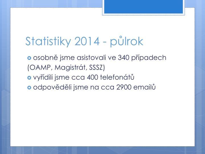 Statistiky 2014 - půlrok