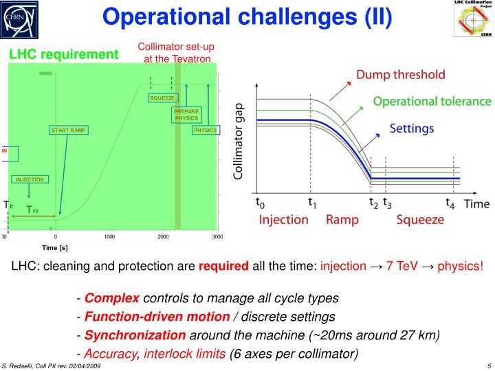 LHC requirement