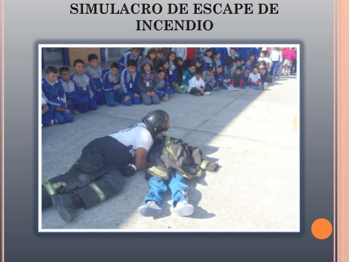 SIMULACRO DE ESCAPE DE INCENDIO
