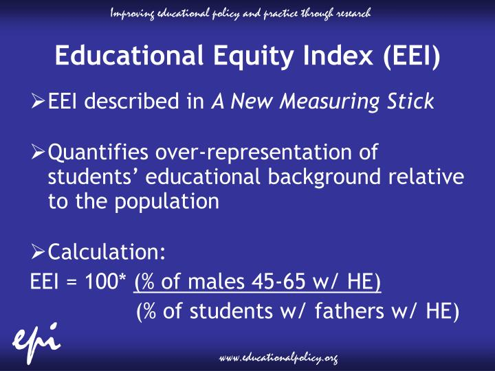 Educational Equity Index (EEI)