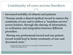 continuity of care across borders1