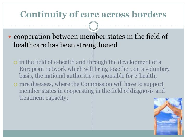Continuity of care across borders