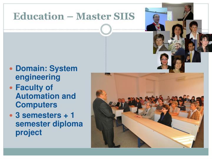 Education – Master SIIS
