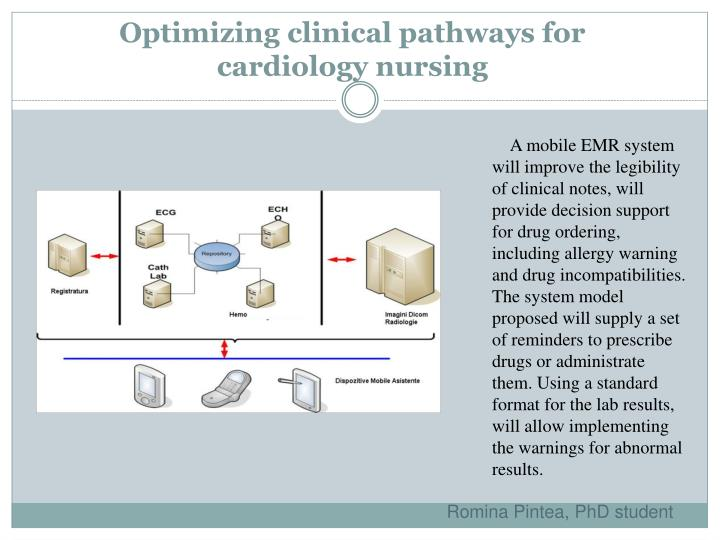 Optimizing clinical pathways for cardiology nursing