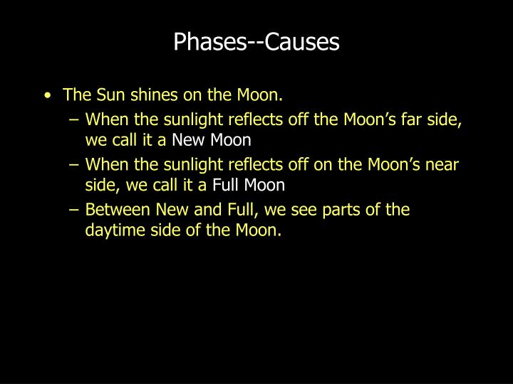Phases--Causes