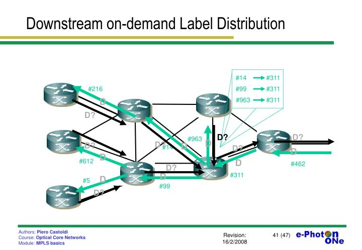Downstream on-demand Label Distribution