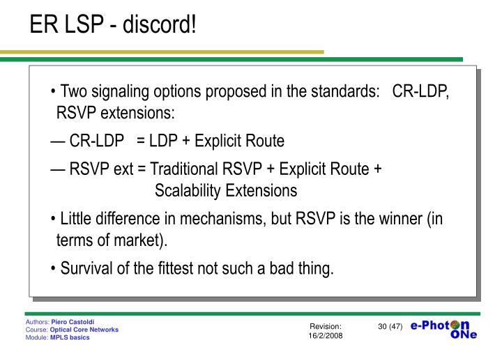 ER LSP - discord!