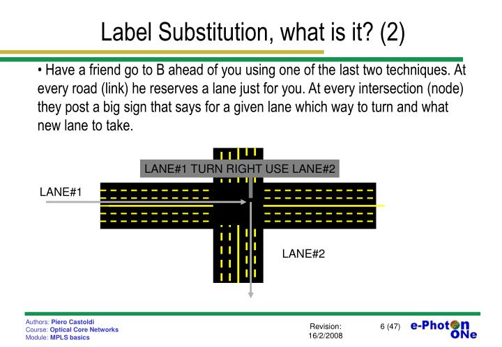 Label Substitution