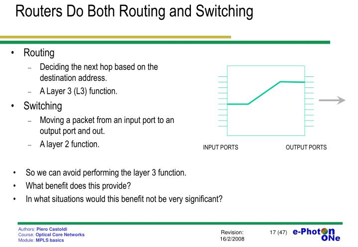 Routers Do Both Routing and Switching