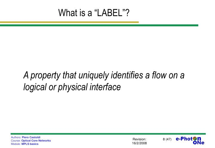 "What is a ""LABEL""?"