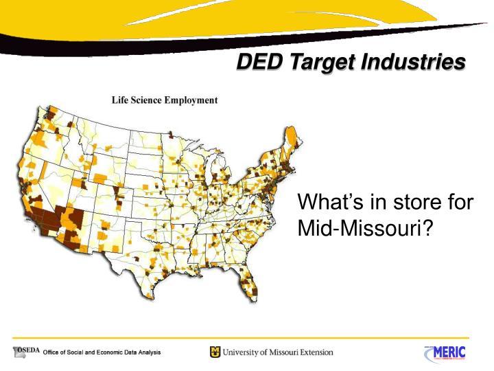 DED Target Industries