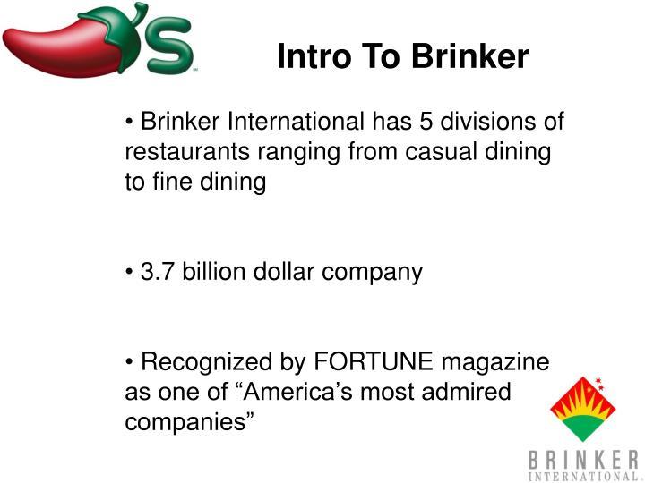 Intro To Brinker