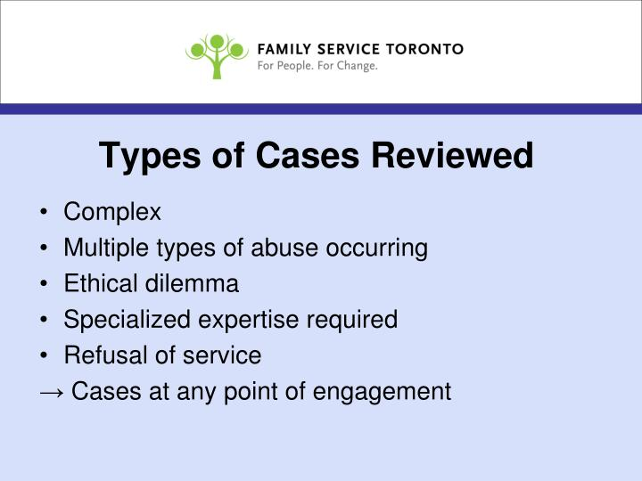 Types of Cases Reviewed