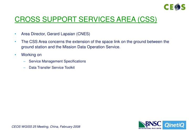 CROSS SUPPORT SERVICES AREA (CSS)