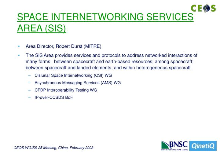 SPACE INTERNETWORKING SERVICES AREA (SIS)