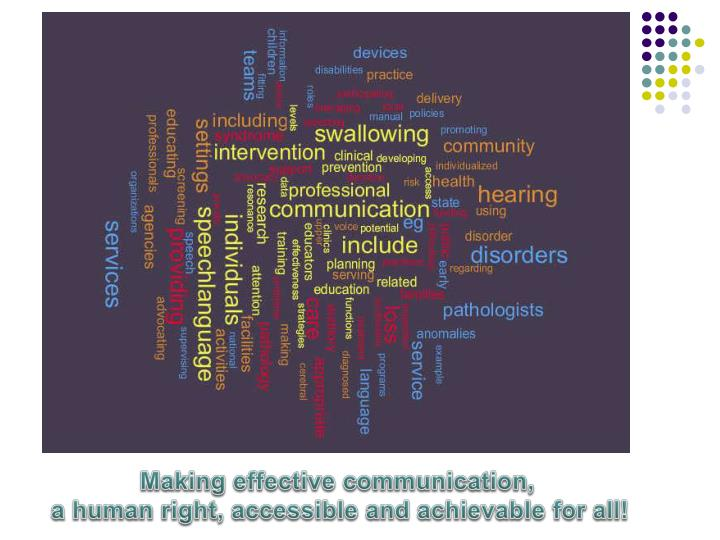 Making effective communication,