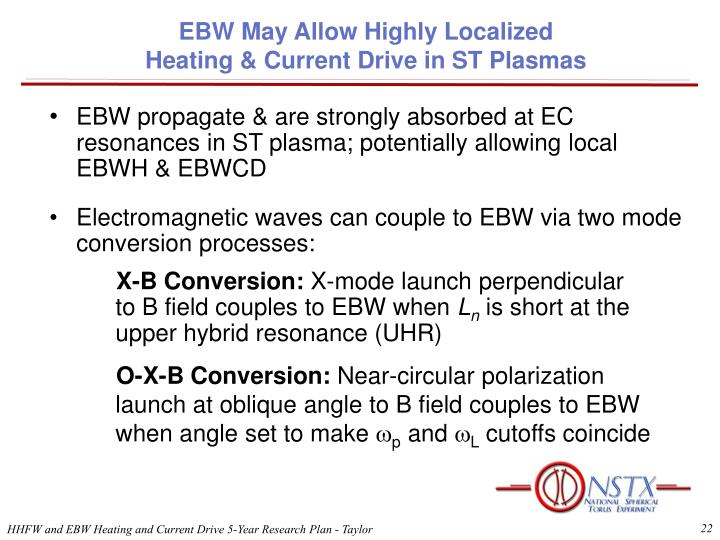 EBW May Allow Highly Localized