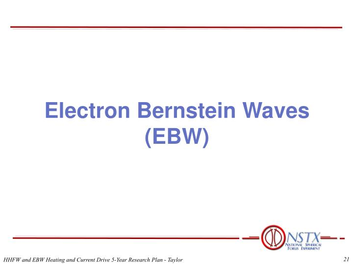 Electron Bernstein Waves