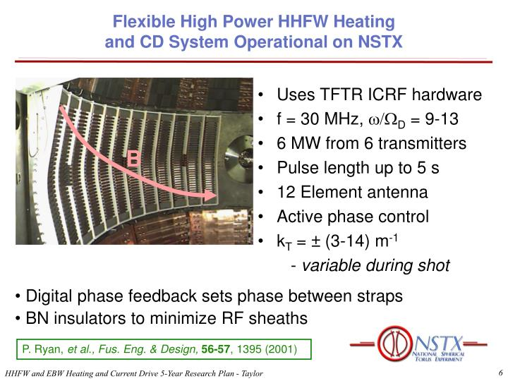 Flexible High Power HHFW Heating
