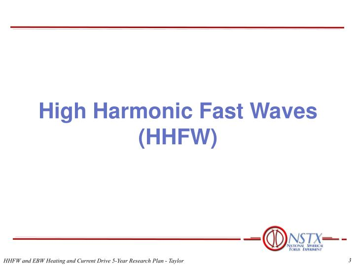 High Harmonic Fast Waves