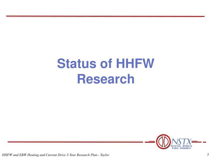 Status of HHFW