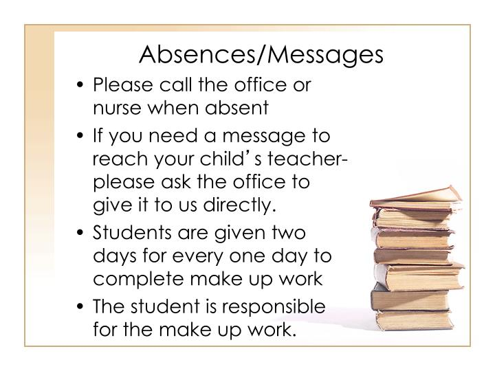 Absences/Messages