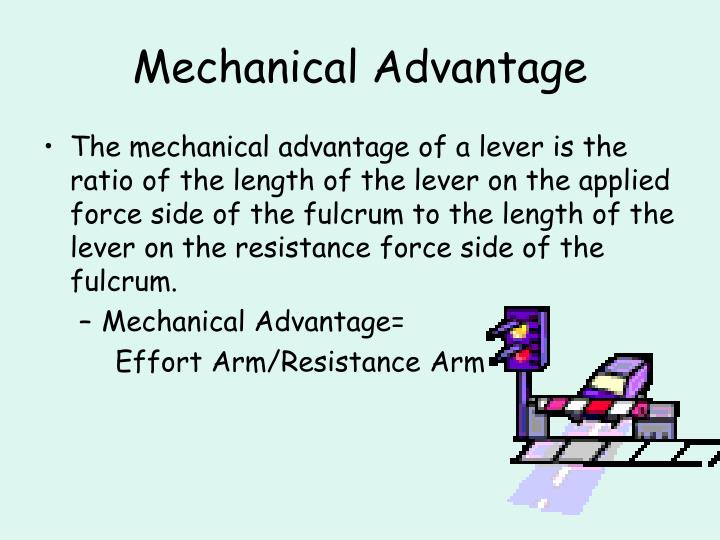 what is the mechanical advantage of a machine