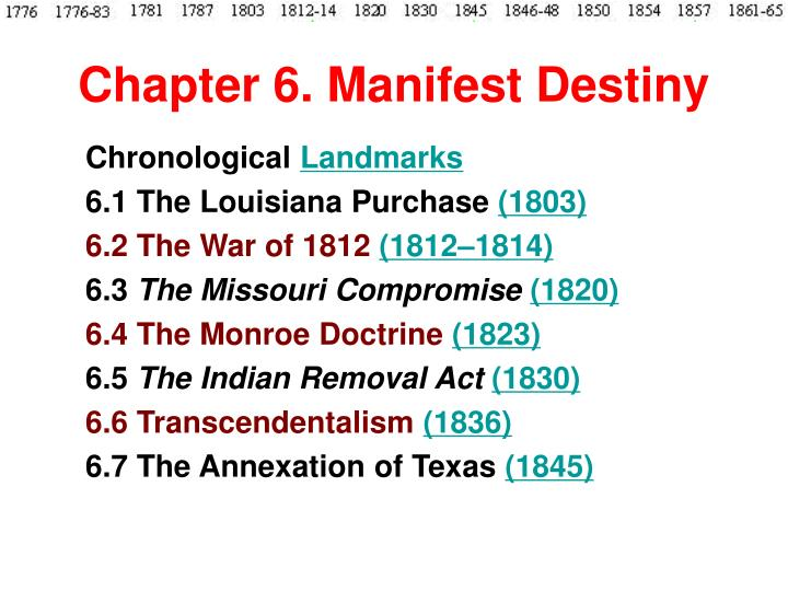 Chapter 6 manifest destiny