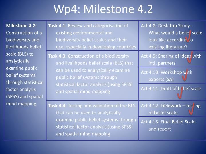Wp4: Milestone 4.2