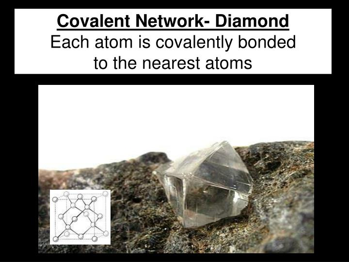 Covalent Network- Diamond