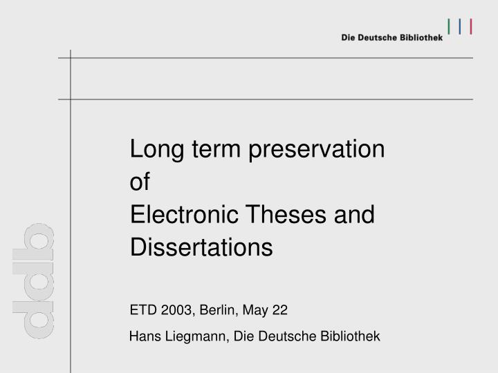 electronic theses Information for virginia tech's electronic theses and dissertations authors.