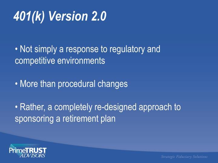 401(k) Version 2.0