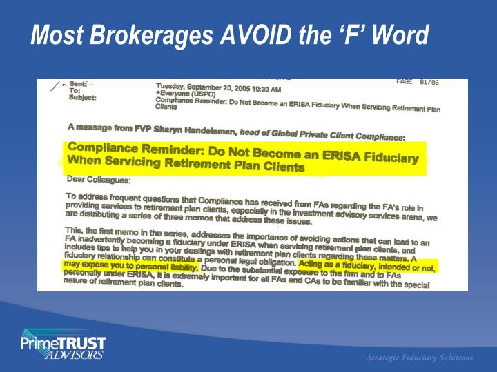 Most Brokerages AVOID the 'F' Word