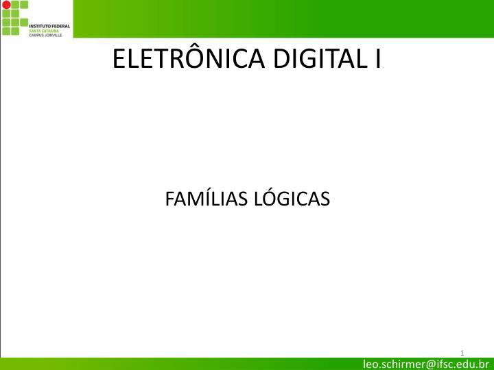 Eletr nica digital i
