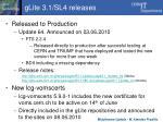 glite 3 1 sl4 releases