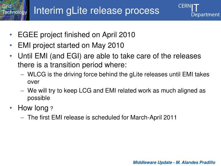 Interim gLite release process