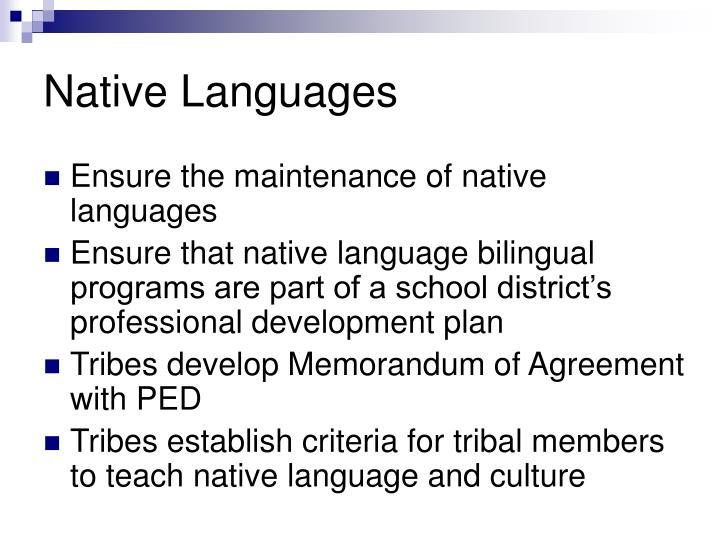 Native Languages