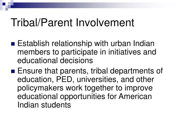 Tribal/Parent Involvement