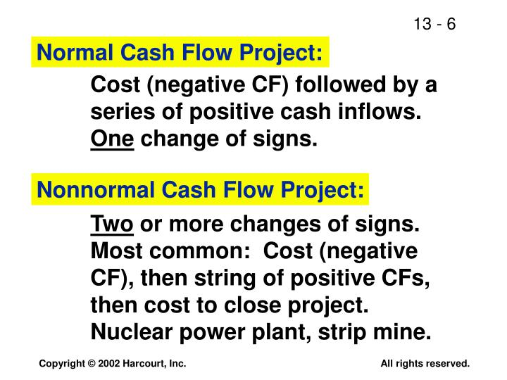 Normal Cash Flow Project: