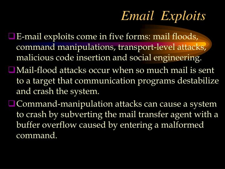 Email  Exploits