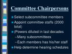 committee chairpersons