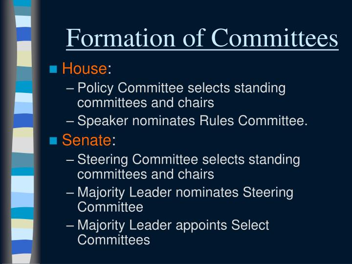 Formation of Committees