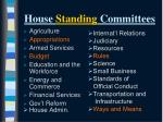 house standing committees