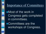 importance of committees